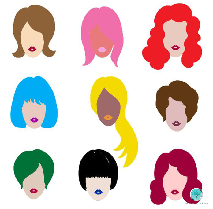 Hoje em dia há grande variedade nas cores das tinturas
