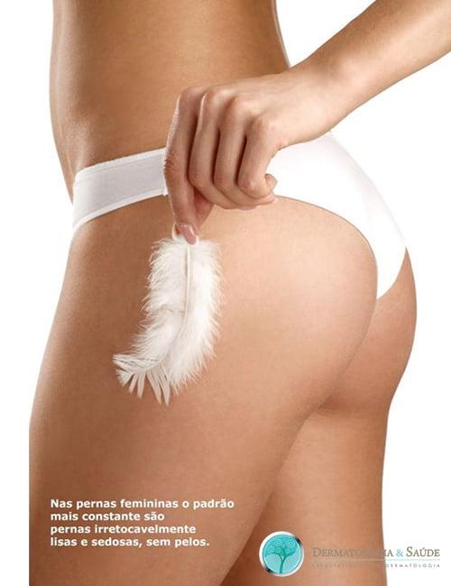 As mulheres preferem pernas sedosas e lisas, sem pelos
