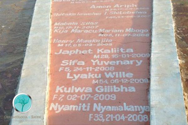 Placa com nome de 139 mortos